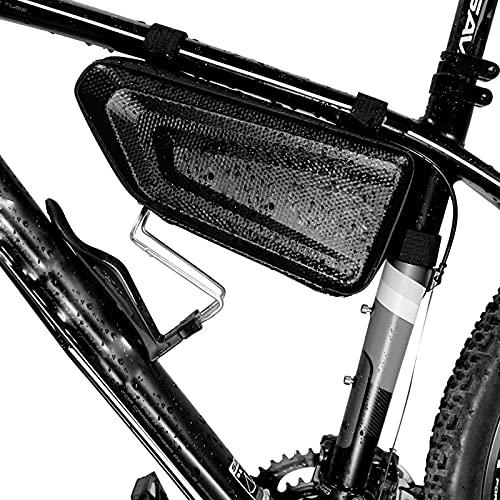 DOMELI Bicicleta Bicicleta Triángulo Bolsa, Bicicleta Bicicleta Bolsa de Almacenamiento para la Bicicleta eléctrica de Viaje de montaña, Bolsa de Marco de Bicicleta Impermeable