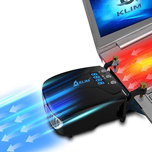 KLIM Tornado V2 -Nueva Versión 2021 - Enfriador de Portátiles - INNOVADOR – Refrigerante rápido – Disipador de Calor USB – Peso Ligero + Potente + Efectivo Contra el Sobrecalentamiento