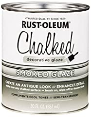 Ideal for creating Antique looks on chalked painted surfaces like wood, laminate, melamine or metal Apply over a clean, fully cured surface that has been painted with Rust-Oleum chalked paint Covers up to 200 sq ft, let dry a minimum of 8 hours befor...