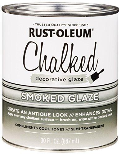 Rust-Oleum 315883 Chalked Decorative Glaze, 30 oz, Semi-Transparent Smoked