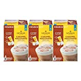 GEVALIA Caramel Macchiato Latte Coffee, K-CUP Pods, 5.98 oz, (18 Count,Pack - 3)