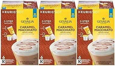 GEVALIA Caramel Macchiato Latte Coffee, K-CUP Pods, 5.98 oz, (18 Count,Pack - 3)