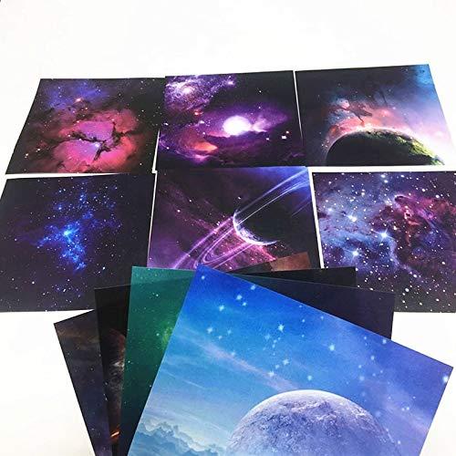 RRTYA 72 piezas de manualidades de 12 patrones de papel de origami mixto de 15 x 15 cm, hermoso papel de manualidades (70 hojas)