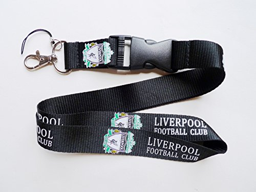 Liverpool FC Lanyard Keychain Holder with Release Buckle (Retail Packaging) (Black)