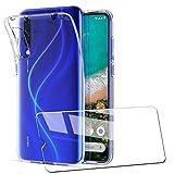AILRINNI Coque pour Xiaomi Mi 9 Lite + Verre trempé Protection écran, Souple Etui Transparente...
