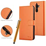 VA Nokia 7 Plus - Funda de piel con tapa magnética para Nokia 7Plus (naranja)
