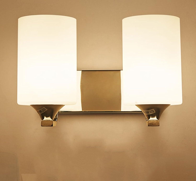 Wandleuchte lampe Wandleuchte - Moderne minimalistische LED Schlafzimmer Nachttischlampe Kreative Persnlichkeit Wohnzimmer Treppe Gang Wandleuchte Hotel Beleuchtung Dekoration (gre   Double head)