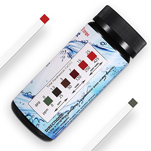 Water Hardness Test Strips,Upgraded 100ct,0-425 mg/L, HoneForest Hard...