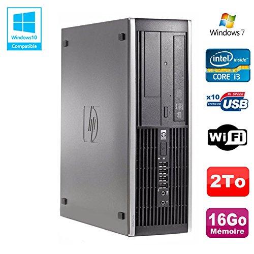 HP PC Compaq Elite 8200 SFF Intel Core I3-2100 3.1GHz 16 GB 2To Grabador WiFi W7