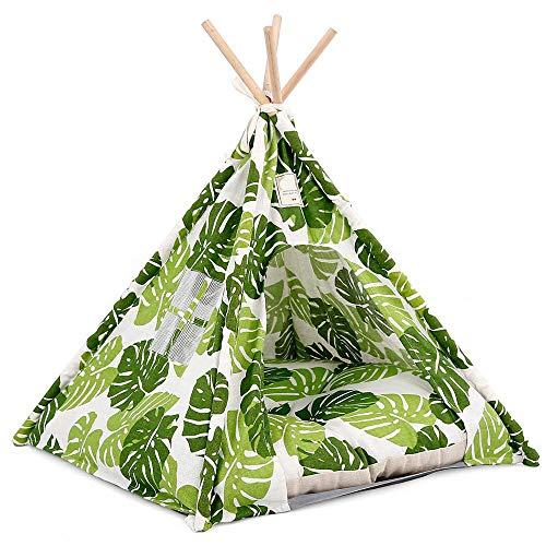 DOEGLY Wigwam Tipi Dog Tent 62 x 62 x 54 cm Green