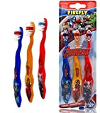 Marvel Avengers Superheroes Soft Bristle Manual Toothbrush Value Set 3 Count, Kids Friendly Designed Grip, Perfect Gifts for Boys Girls by Firefly (Style May Vary)