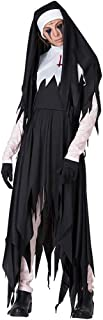QYLOZ Terrorist Female Monk Role Play, Halloween Costume Party, Including Cross, Headscarf, Gloves, Costumes for Various Theme Parties (Suitable for Height 160cm-175cm)