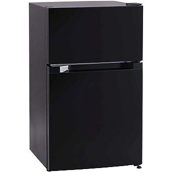 アイリスプラザ ノンフロン 冷蔵庫 87L ブラック PRC-B092D-B
