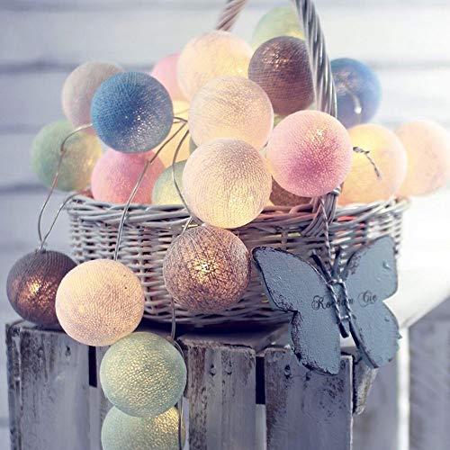 FNCUR LED Luces Intermitentes Luces De Pequeñas Luces Decorativas Luces Estrellas De Boda Románticos Cumpleaños De La Navidad Luces De La Decoración De La Batería 4 Metros 20 Luces De Macarons