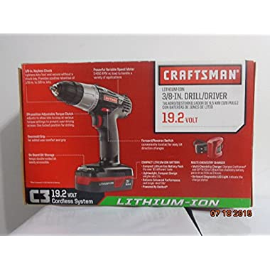Craftsman C3 19.2-volt 3/8-in. Lithium-ion Drill/driver Kit