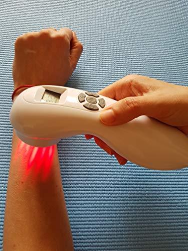 Hochleistungs Softlaser Lasertherapiegerät: Laserbehandlung Dauer und Impulsbestrahlung Akupunktur Lasertherapie mit Schutzbrille