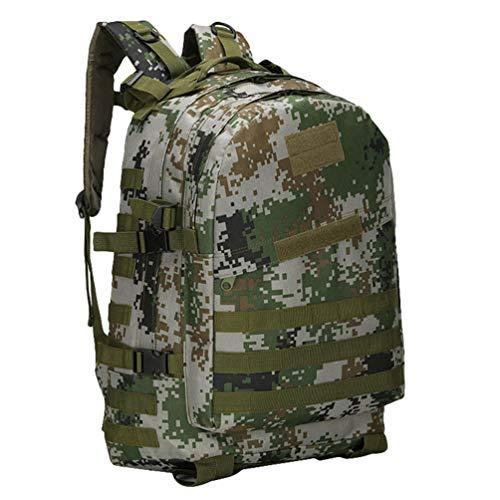 Kaiyei Mochila Militar 3 Dias 40L Camuflaje Molle Impermeable Multibolsillo Duradero Outdoor Viaje Tactico Senderismo Asalto Montañismo Ordenador Bolso 07 Digital