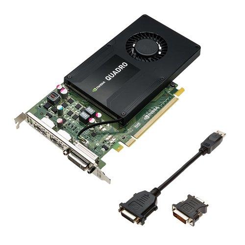 PNY NVIDIA QUADRO K2200 professionelle Grafikkarte 4 GB GDDR5 PCI-Express 4K 2 x DP + DVI (VCQK2200-PB)