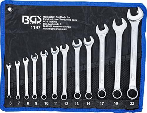 BGS BGS 1197 Maul-Ringschlüssel-Satz 12-tlg. SW Bild