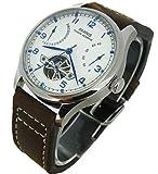 CursOnline Elegante reloj clásico para hombre de la famosa marca Parnis original PN809 con movimiento automático Seagull y función de reserva de energía. Caja original y garantía.