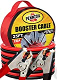 Pennzoil Jumper Cable (2-Gauge x 25-Foot) w/Carry Bag - 500-AMP Heavy Duty Battery Booster