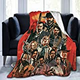 Red 2 Ultra Soft Anti-Pilling Flannel Blanket Throw Blanket Warm Plush Cozy Soft Blankets 40X50''