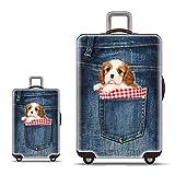 Funda para Equipaje Funda para Equipaje De Viaje A Prueba De Lluvia para Equipaje De 18 A 32 Pulgadas (Solo Funda) para Maleta Funda para Equipaje De Viaje Protector para Maleta (Color: Perro, Tamaño