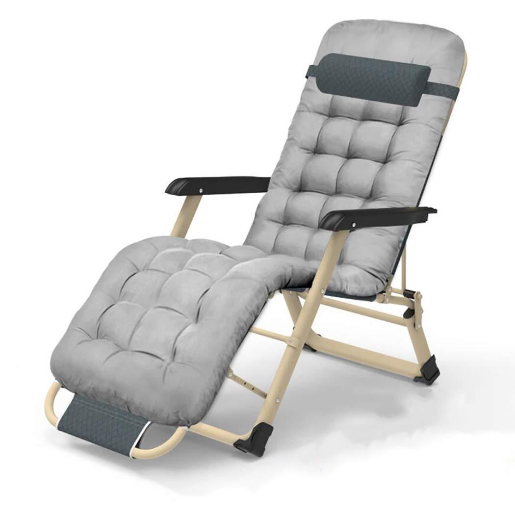 懐元に戻すクレタHSBAIS 折りたたみ 調整可能 リラックスチェア リクライニングチェア、快適な 無重力チェア 折りたたみ式ベッド、シートクッション,Gray