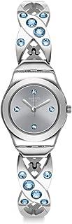 Swatch Women's Irony Swiss Quartz Stainless Steel Strap, Gray, 12 Casual Watch (Model: YSS332G)