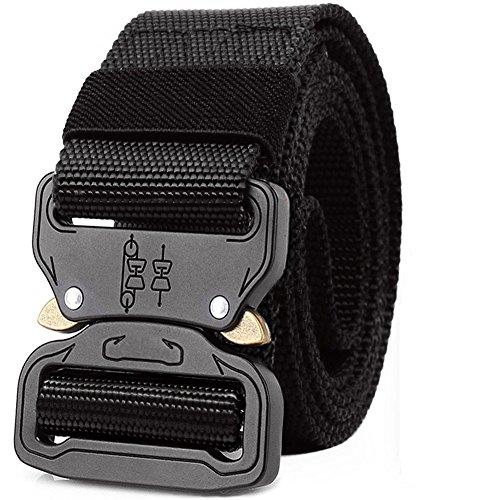 ALAIX Unisex Gürtel, verstellbar, elastisches Flechtmaterial, Stretch, 35mm - XL 40-42''Waist - Schwarz