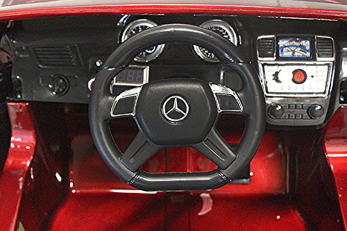 RC Auto kaufen Kinderauto Bild 4: Kaufexpress Mercedes Benz GL63 AMG Jeep SUV Lizenz Kinderfahrzeug mit 2X 35W Motor Kinderauto Elektroauto Fernbedienung MP3 Anschluss in Weiß*
