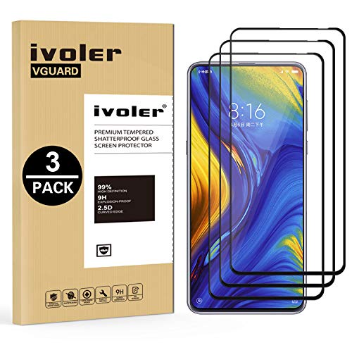 ivoler [3 Stücke] Panzerglas Schutzfolie für Xiaomi Mi Mix 3 / Xiaomi Mi Mix 3 5G, [Volle Bedeckung] Panzerglasfolie Folie Hartglas Gehärtetem Glas BildschirmPanzerglas