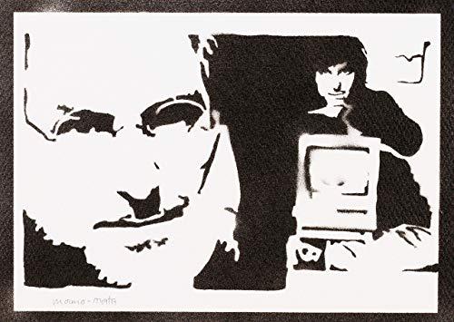 Steve Jobs Poster Plakat Handmade Graffiti Street Art - Artwork