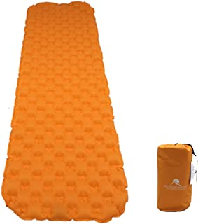 Premium Ultralight Inflatable Camping Sleeping Pad - Padded Inflating Air Mattress with Lightweight Bag - Adults or Kids - Compact and Waterproof - Extra Comfortable Sleep for Camper Backpack