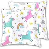 Dzkopi Fundas de almohada cuadradas para niños, diseño de...