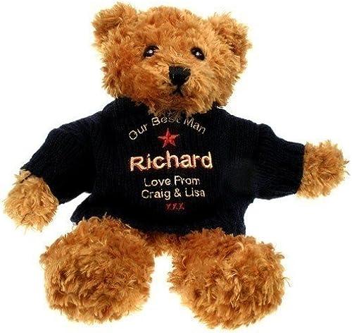 Personalised Best Man braun Teddy Bear