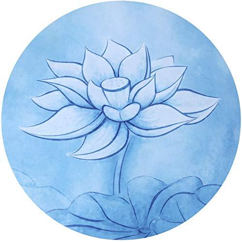 DZX Ronde Meditatie Mat, Yoga Mat, Draagbare Antislip Natuurlijke Rubber Mat, Geschikt voor Mannen En Vrouwen, Diameter 60cm Blauw