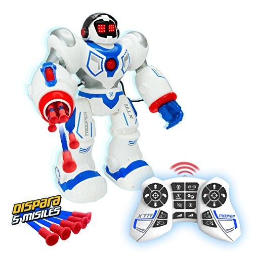 XTREM BOTS- Trooper BOT dispara misiles, Juguete Interactivo, Robot Ultima generación, Robotica para niños (World Brands, S.L. XT30039)