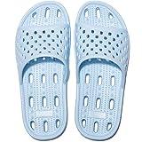 Zapatillas de Ducha para Mujeres Antideslizantes Chanclas y Sandalias de Piscina Sandalias de Baño (Azul, 38)