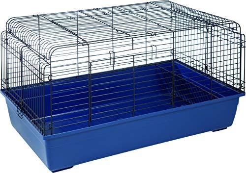Cage pour Lapin Sprinters L : 100 cm B : 68 cm H : 54 cm Bleu