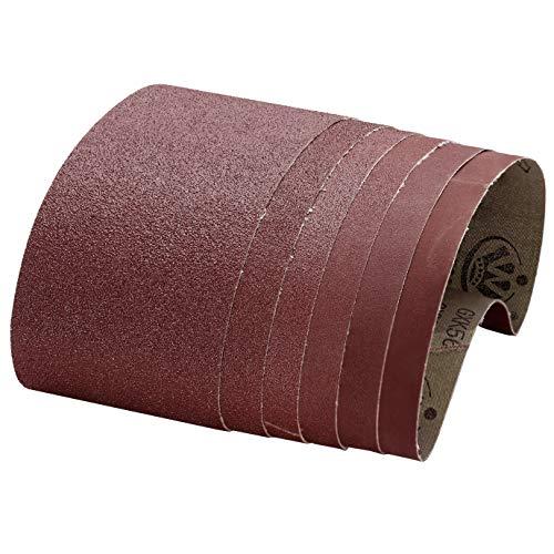 Nastri abrasivi, 100x610 mm 60 80 120 150 240 400 Nastri abrasivi a grana spessa/fine per levigatrice a nastro (12 pezzi)