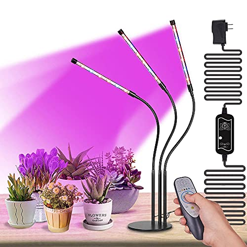 High Brightness 36w Grow Light,Auto ON & Off Every Day with Cycle Timer Desktop Plant Light,8 Dimmable Levels,4/8/12H Cycle Timing for Indoor Greenhouse Growing Lamps