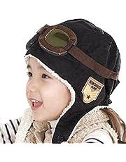 lansue - Gorro de invierno unisex para bebé, con orejeras