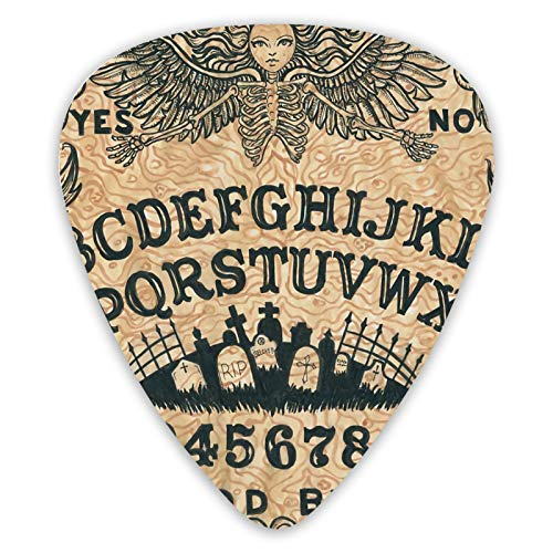 NiYoung Ouija Board Spirit Talking Divination Board Cross Tomb Eyes Gothic Bass Celluloid Guitar Plectrums Custom Guitar Picks Luxury Guitar Pick for Electric Guitar, Acoustic Guitar, Mandolin, bass