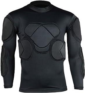 0914cdeb5ed COOLOMG Men s Sport Soccer Football Rash Shock Padded Goalie Goal Long  Sleeve Shirt