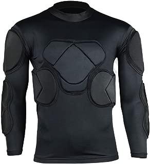 COOLOMG Men's Sport Soccer Football Rash Shock Padded Goalie Goal Long Sleeve Shirt