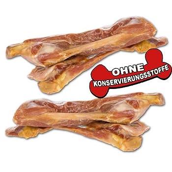 Os de jambon d'Italie35g env.15–18cm Os jambon à mâcher avec beaucoup de viande, séché14 mois à l'air libre puis emballé sous vide, produit sans additifs, os pour chien