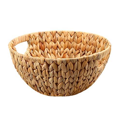 MQH Cesta de Frutas Creativa Placa Rota Tejida de Frutas con Mango de Bread Basket Inicio Cesta de Almacenamiento Pisos Cuencos (Color : A)