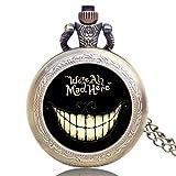 Reloj de bolsillo vintage, bronce Alicia en el país de las maravillas, reloj de bolsillo de cuarzo para hombres y mujeres, reloj de bolsillo regalo - JLySHOP