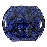 Etnico 0310181144 - Plato Decorativo de cerámica para Pared, diseño de árabe marroquí